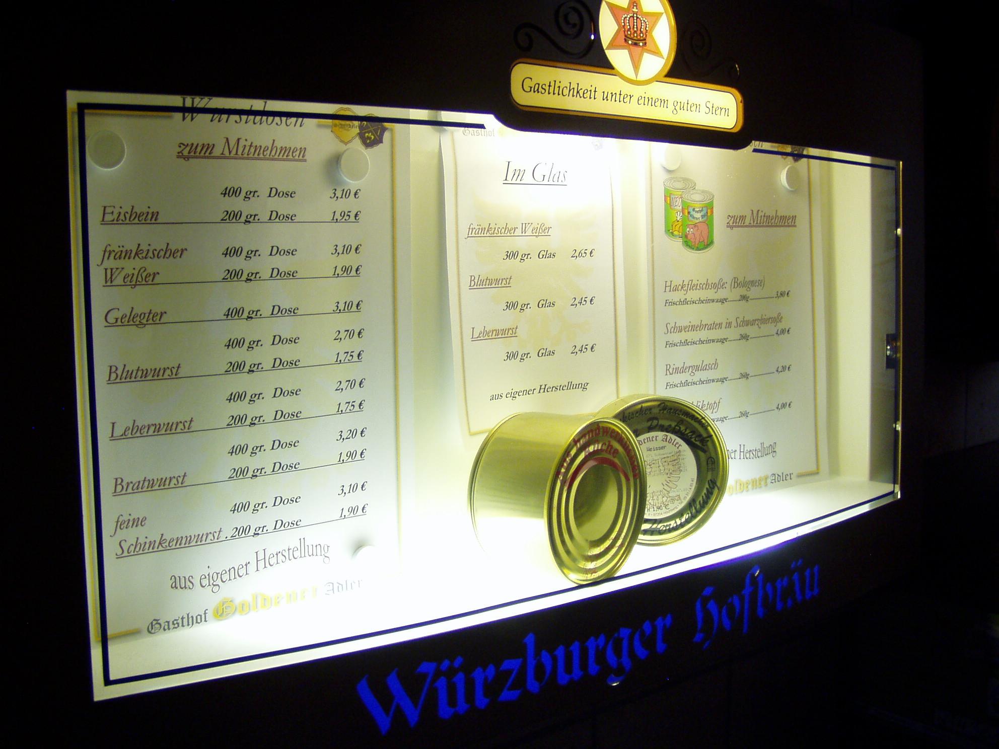 Wurstwaren - Goldener Adler Höchberg